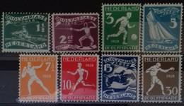 PAYS-BAS N° 199 à 206 COTE 65 € NEUF * MH SERIE COMPLETE DE 8 VALEURS . 9ème JEUX OLYMPIQUES D'AMSTERDAM 1928 TB - 1891-1948 (Wilhelmine)