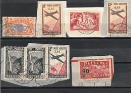 Lot De 24 Timbres Réunion Sur Fragment De Lettres - Réunion (1852-1975)