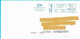 EMA SM 528550 Haute Garonne Flamme Petits Frères Des Pauvres Toulouse Marque De Tri TL0101/151 - Postmark Collection (Covers)