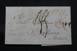 ETATS UNIS - Lettre De Boston Pour La France En 1842 , Voir Cachets Et Taxes D'acheminement - L 57608 - …-1845 Vorphilatelie