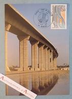 Nantes - Pont De Cheviré - Premier Jour 1er Fdc 1991 - Carte Postale Philatélique - Carte Maximum - Loire Atlantique 44 - 1990-1999