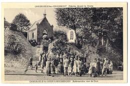 Onkerzele-lez-Grammont - Pelerins Devant La Grotte /P107/ - Geraardsbergen