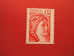 """1977-81 Oblitéré N°  2059  """"  SABINE ,  1.30 Rouge   """"  Net  0.30  Photo  5   """"  Montlouis,indre Et Loire  """" - 1977-81 Sabina Di Gandon"""