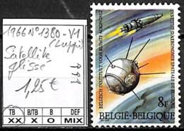 [847247]TB//**/Mnh-Belgique 1966 - N° 1380-V1, Satellite Glissé, Espace - Abarten (Katalog Luppi)