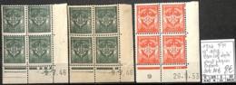 [847924]TB//**/Mnh-c:30e-France 1946 - N° 11/12, F.M., Bd4, Cdf Daté Dont Papier Crême - Franquicia Militar (Sellos)