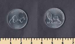 Congo 25 Centimes 2002 - Congo (República Democrática 1998)