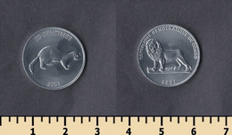 Congo 25 Centimes 2002 - Kongo (Dem. Republik 1998)