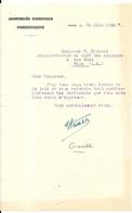 LETTRE MANUSCRITE . ASSEMBLEE NATIONALE CONSTITUANTE .1946 .GIACOBBI - Autographes