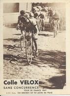 Tour De France 1947   Les Coureurs Sur Les Pavés Du Nord - Radsport