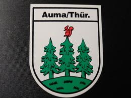 Blason écusson Adhésif Autocollant  Auma Thür Wappen Coat Of Arms Sticker Adesivo Adhesivo - Oggetti 'Ricordo Di'