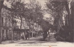 CPA - Saintes (17) Charente Maritimes - Cours National Et Bureau De La Poste Et Du Téléphone - Saintes