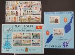 ILE DE MAN / ISLE OF MAN 1979 + 1980 Cote/Value 27.2€ ANNEES COMPLETES / FULL YEAR N° 131 à 176 + BF 3 + 4 ** MNH. TB/VG - Isle Of Man
