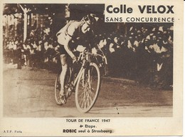 Tour De France 1947  Robic Seul A Strasbourg - Wielrennen