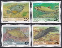Namibia Südwestafrika SWA 1992 Tiere Fauna Animals Fische Fish Poissons Peces Pesci Karpfen Katzenfisch, Mi. 719-2 ** - Namibia (1990- ...)