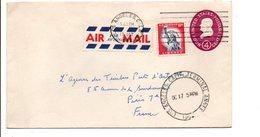 USA ETATS UNIS AFFRANCHISSEMENT COMPOSE SUR LETTRE POUR LA FRANCE 1962 - United States
