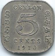 Ceylon - George V -  1910 - 5 Cents - KM103 - Sri Lanka
