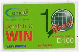 GAMBIE RECHARGE GSM GAMCEL D100 - Gambia