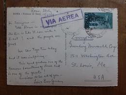 REPUBBLICA - 100 Lire Campidoglio Spedito Per Posta Aerea Negli U.S.A. + Spese Postali - 6. 1946-.. Repubblica