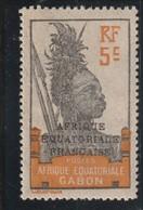 GABON  Timbre De 1910-22 Surchargé  N° 91 * - Nuovi