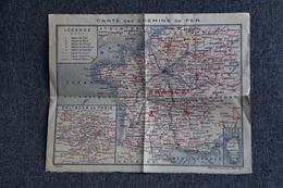 Carte Des Chemins De Fer Du VAUCLUSE Et De FRANCE ( Imprimerie OBERTHUR).1966 - Europa