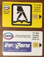 TRINITÉ & TOBAGO $100 & $20 TRINIDAD AND TOBAGO  2 TÉLÉCARTES CARTES TÉLÉPHONIQUE  PHONECARD CARD PAS TÉLÉCARTE - Trinidad En Tobago