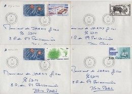 Dumont D'Urville - Terre Adelie - TAAF - 1-1-1987 - Lot De 4 Lettres Destination France - Lettres & Documents