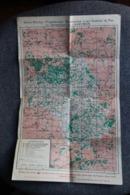 Carte Des Chemins De Fer De L'Aveyron Et Centre Ville De RODEZ, 1966 .Imprimerie OBERTHUR - Europa