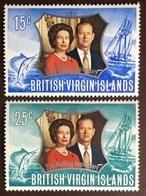 British Virgin Islands 1972 Silver Wedding MNH - British Virgin Islands