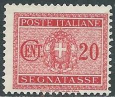 1934 REGNO SEGNATASSE 20 CENT MNH ** - RC11-6 - 1900-44 Vittorio Emanuele III