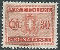 1934 REGNO SEGNATASSE 30 CENT MNH ** - RC11-6 - 1900-44 Vittorio Emanuele III