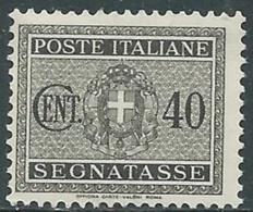 1934 REGNO SEGNATASSE 40 CENT MNH ** - RC11-6 - 1900-44 Vittorio Emanuele III