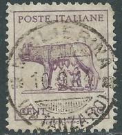 1943 LUOGOTENENZA USATO LUPA CON FILIGRANA - RC13-2 - Usados