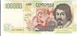 100000 Lire CARAVAGGIO 2° TIPO SERIE D 1997 Spl LOTTO 262 - [ 2] 1946-… : Républic