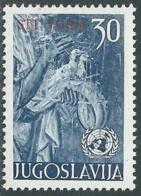 1953 TRIESTE B NAZIONI UNITE 30 D MH * - RC15-2 - Trieste