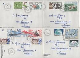 Dumont D'Urville - Terre Adelie - TAAF - 1-1-1987 - Lot De 4 Lettres Destination Suisse - Terres Australes Et Antarctiques Françaises (TAAF)