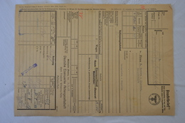 Spoorwegen Frachtbrief Lettre De Voiture Montzen Hamborn Henrichs Kapelle Henri Chapelle Aachen 1943 - 1900 – 1949