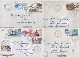 Dumont D'Urville - Terre Adelie - TAAF - 1-1-1987 - Lot De 4 Lettres Destination Suisse - Lettres & Documents