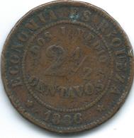 Chile - 1886 - 2½ Centavos - KM150 - Chile