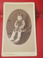Photo Originale  19eme CDV  BEBE GARCON ALBERT COULET PHOTOGRAPHE A. RUETSCHMANN ETAIN - Personnes Identifiées