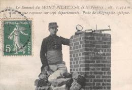 ►SOMMET DU MONT-PILAT◄42►CPA◄1914►CRÊT DE LA PERDRIX◄► POSTE DE TÉLÉGRAPHIE OPTIQUE►ÉDITION JOHANNÈS MERLAT N°770 - Mont Pilat