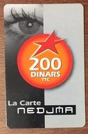 ALGERIE NEDJMA WATANIYA TELECOM RECHARGE GSM 200 DINARS PHONECARD PAS TELECARTE CARTE TÉLÉPHONIQUE À CODE - Argelia