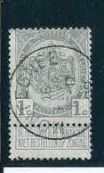 OCB 81 - Afstempeling MONTEGNEE - COBA 8 - 1893-1907 Wappen