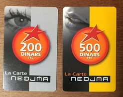 ALGERIE NEDJMA WATANIYA TELECOM RECHARGE GSM 200 & 500 DINARS PHONECARD PAS TELECARTE CARTE TÉLÉPHONIQUE À CODE - Argelia