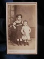 Photo CDV Bastide à Langon - Deux Jeunes Enfants, Jeanne Et André Calas, Circa 1870-75 L497 - Antiche (ante 1900)