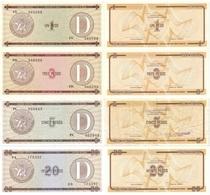 CUBA Set (4v) 1 3 5 20 Pesos ND (1985) P - FX - 32,33,34(XF),36 Series D UNC - Cuba