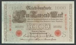 #07. GERMANY / ALEMANGNE. 1000mark. 21/4/1910. Pick 44b/Ros45e. BEAUTIFUL CONDITION - [ 2] 1871-1918 : German Empire
