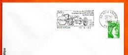 55 VOID VACON   N.J. CUGNOT  1° VOITURE AUTOMOBILE1982 Lettre Entière N° MN 823 - Maschinenstempel (Werbestempel)