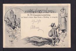 "5 Pf. Privat Ganzsache Nürnberg Mit Abbildung ""Edelweiss"" - Gebraucht 1898 - Végétaux"