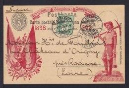 "5 C. Ganzsache ""Simplon"" Mit Roter Abbildung  ""Bergmann"" - Gebraucht 1905 - Géologie"