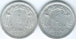 Chile - 1954 & 1957 - 1 Peso - KM179a - Chili